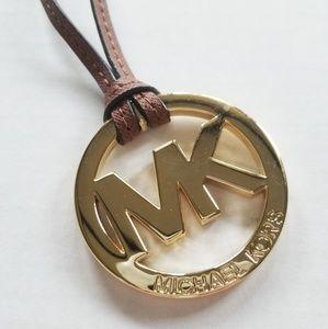 Michael Kors MK LOGO Leather Purse Charm FOB
